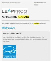 Leapfrog-Lighting-newsletter-subscribe-LED